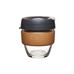 GLASS REUSABLE CUP (CORK) 8 oz PRESS