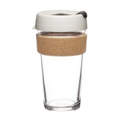 GLASS REUSABLE CUP (CORK) 16 oz