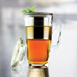 GLASS MUG WITH STAINLESS STEEL INFUSER (TD1)